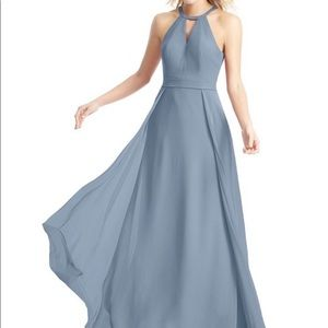 Azazie dusty blue bridesmaid dress